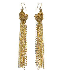 Sogoli Gold Chain Knot Earrings