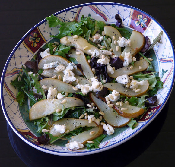Warm Pear and Gorgonzola Salad